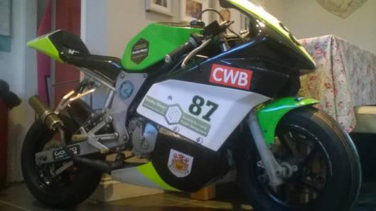 Close up image of Jake Hopper's new bike