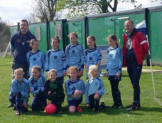 Stamford Bridge Under 10's girls football team photo