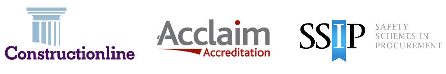 New Accreditations from Constructionline, Acclaim and SSIP