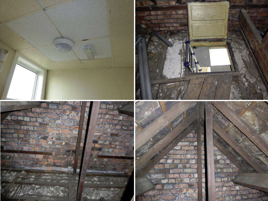 Asbestos Roof Slates - contamination of roof void - Chandos Club Salford