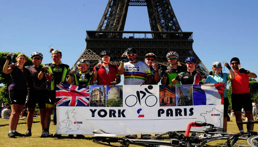 Team Bradley Mason - York to Paris Bike Ride