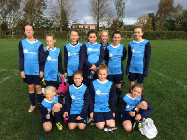Stamford Bridge Under 12's girls 7 a side football team